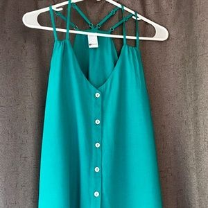 Double strap teal tank